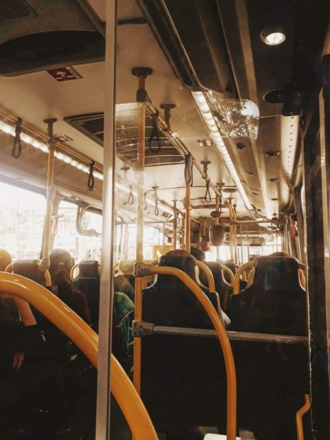 inside public transportation