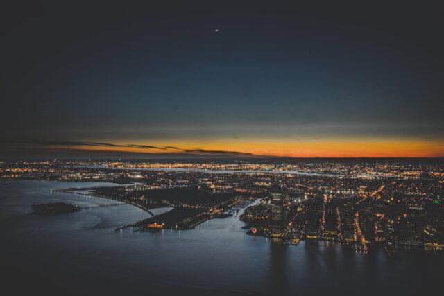 bird s eye photo of city skyline