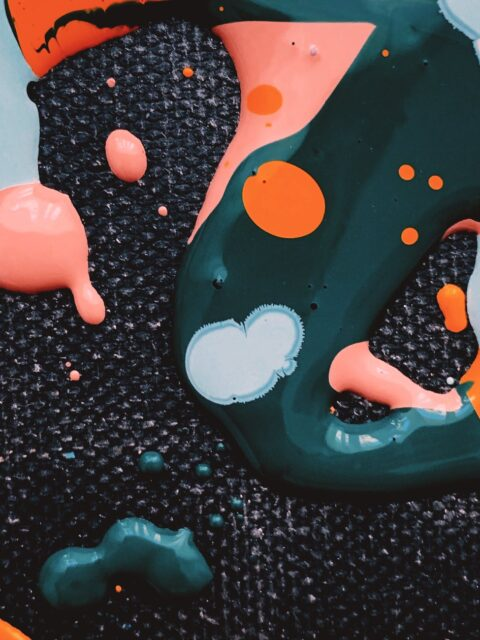 abstract background of colorful painted water and oil